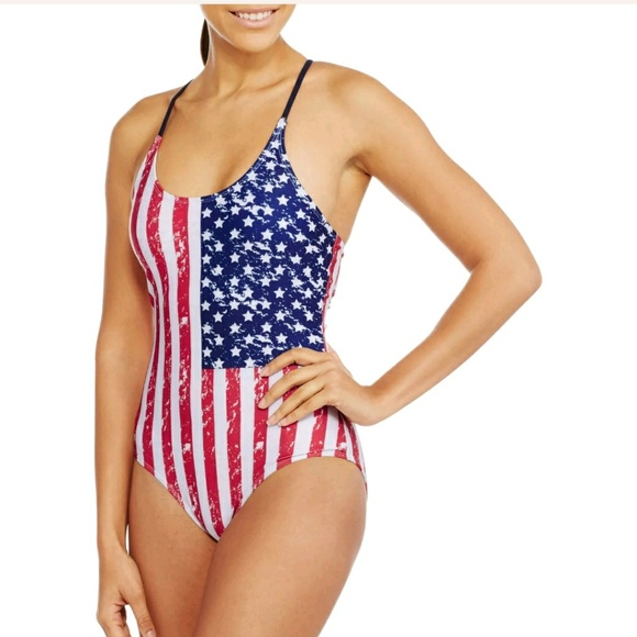 c27e68855ccbf NEW Marilyn Monro American Flag One Piece Swimsuit